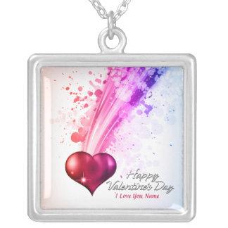 ハッピーバレンタインデー6のネックレス シルバープレートネックレス
