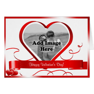 ハッピーバレンタインデー! 写真テンプレート カード