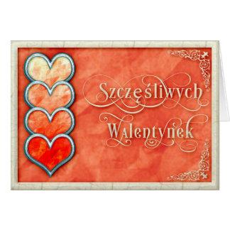 ハッピーバレンタインデー+Szczęśliwych Walentynekカード カード
