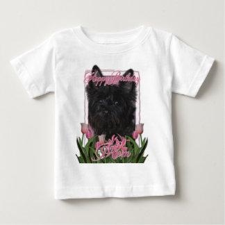 ハッピーバースデーのお母さん-ケルン-黒Rosco ベビーTシャツ