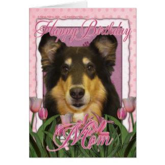 ハッピーバースデーのお母さん-コリー-キャロライン カード