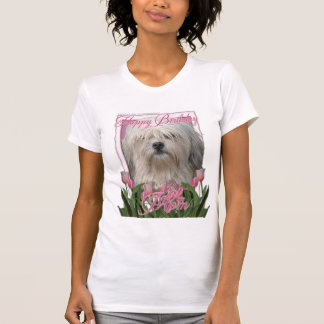 ハッピーバースデーのお母さん- Lowchen Tシャツ