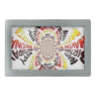 ハッピーバースデーのちょうどHakuna Matataのギフトのデザインの芸術 長方形ベルトバックル
