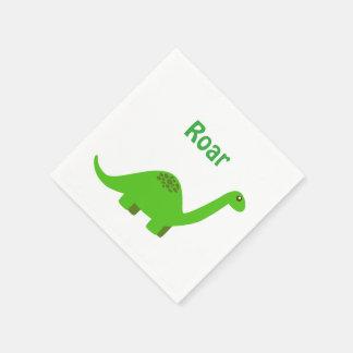 ハッピーバースデーのとどろきの恐竜のナプキン スタンダードカクテルナプキン