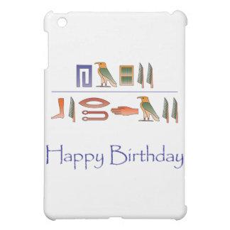 ハッピーバースデーのエジプト人の象形文字 iPad MINIケース