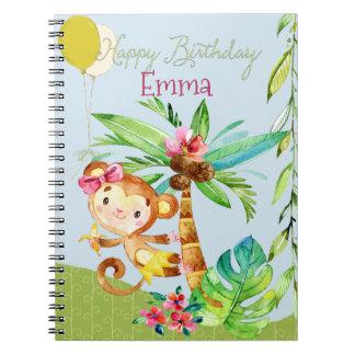 ハッピーバースデーのエマ猿 ノートブック