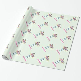 ハッピーバースデーのエミリーラスベガスの包装紙 ラッピングペーパー