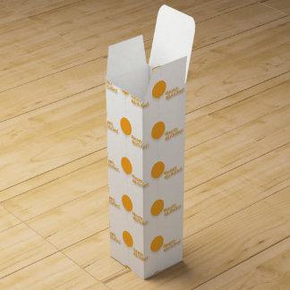 ハッピーバースデーのオレンジはワイン用化粧箱を風船のようにふくらませます ワインギフトボックス