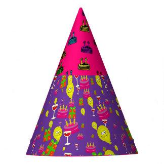 ハッピーバースデーのカスタムなパーティの帽子 パーティーハット
