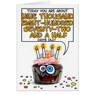 ハッピーバースデーのカップケーキ- 27歳 カード