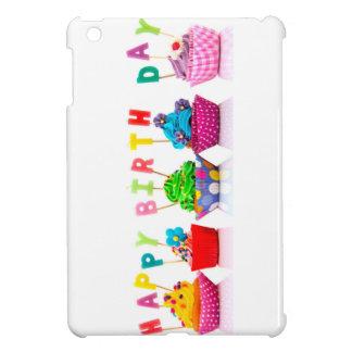 ハッピーバースデーのカップケーキ iPad MINIカバー