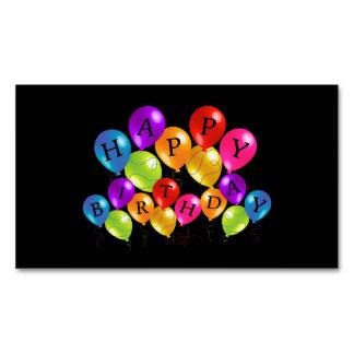 ハッピーバースデーのカラフルなパーティの気球 マグネット名刺