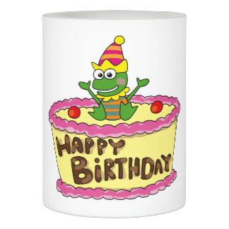 ハッピーバースデーのケーキのカエル LEDキャンドル