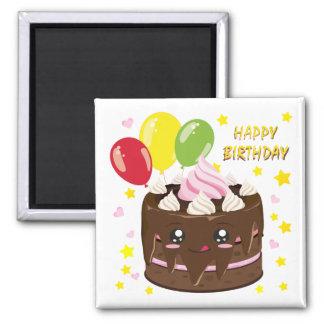 ハッピーバースデーのチョコレートケーキ、かわいい マグネット