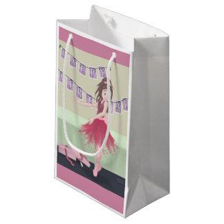 ハッピーバースデーのバレリーナ スモールペーパーバッグ