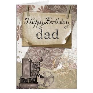 ハッピーバースデーのパパの挨拶状 グリーティングカード