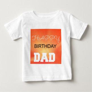 ハッピーバースデーのパパ ベビーTシャツ