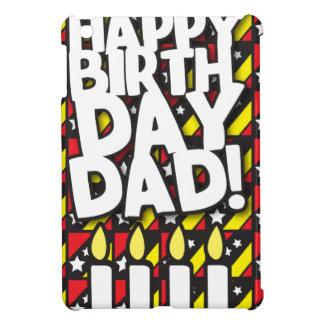 ハッピーバースデーのパパ! 誕生日の蝋燭を使って iPad MINIカバー