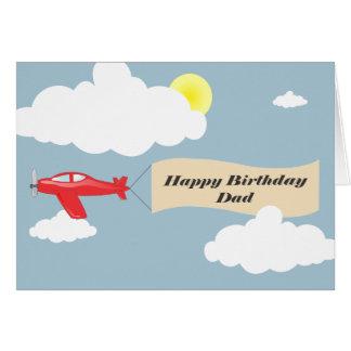 ハッピーバースデーのパパ-飛行機のパパ カード