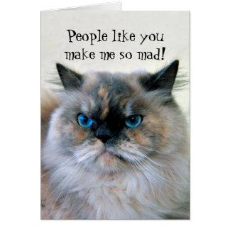 ハッピーバースデーのヒマラヤペルシャのユーモア カード