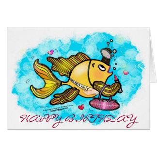 ハッピーバースデーのビバリー・ヒルズの美しいの魚カード カード