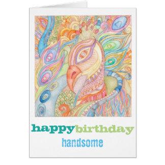 ハッピーバースデーのファッションの挨拶状 カード