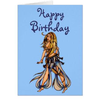 ハッピーバースデーのベリーダンサーの挨拶状 グリーティングカード