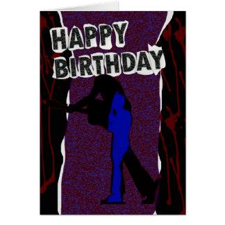 ハッピーバースデーのモダンなカード、レトロのパンク カード