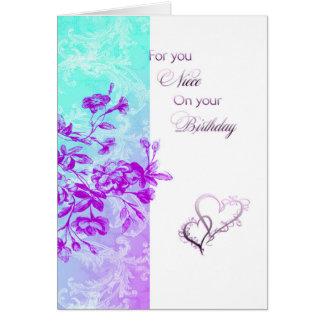 ハッピーバースデーの姪(紫色) カード