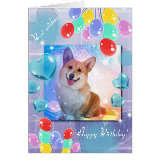 ハッピーバースデーの微笑のコーギー グリーティングカード