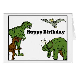 ハッピーバースデーの恐竜の挨拶状 カード
