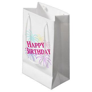 ハッピーバースデーの星の花火のギフトバッグ スモールペーパーバッグ