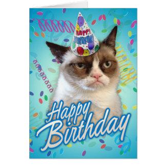 ハッピーバースデーの気難しい猫 カード