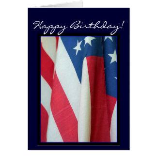 ハッピーバースデーの米国旗の挨拶状 グリーティングカード