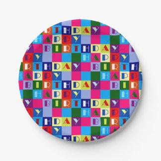 ハッピーバースデーの紙皿 ペーパープレート