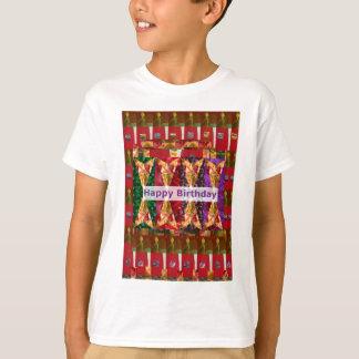 ハッピーバースデーの芸術nの原稿: 挨拶の恵み tシャツ