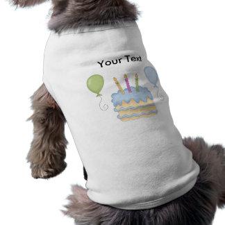 ハッピーバースデーの警官の気球のケーキ ペット服
