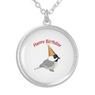 ハッピーバースデーの《鳥》アメリカゴガラ シルバープレートネックレス