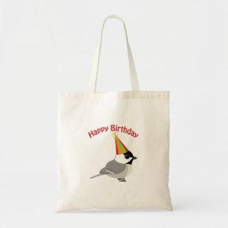 ハッピーバースデーの《鳥》アメリカゴガラ トートバッグ