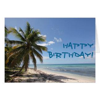 ハッピーバースデーのIsla Saonaのカリブのな楽園のビーチ カード