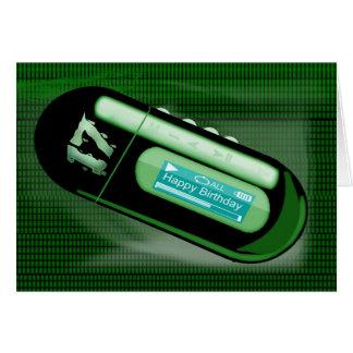 ハッピーバースデーのMP3のタイプのプレーヤー カード