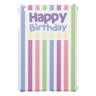 ハッピーバースデーのstripeyカード iPad miniケース