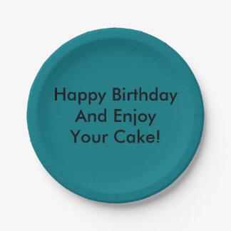 ハッピーバースデーはあなたのケーキを楽しみ、! ペーパープレート