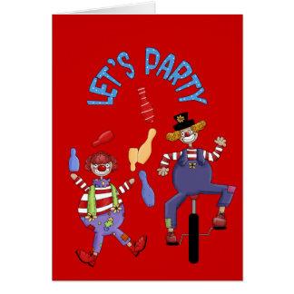 ハッピーバースデーはサーカスのピエロを望みます カード