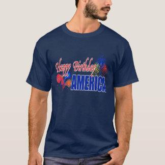 ハッピーバースデーアメリカのワイシャツ Tシャツ