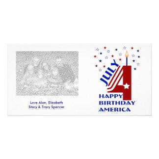 ハッピーバースデーアメリカの写真カード カード
