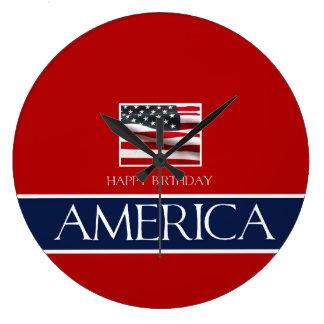 ハッピーバースデーアメリカ! ラージ壁時計