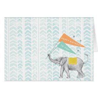 ハッピーバースデー象の挨拶状 カード