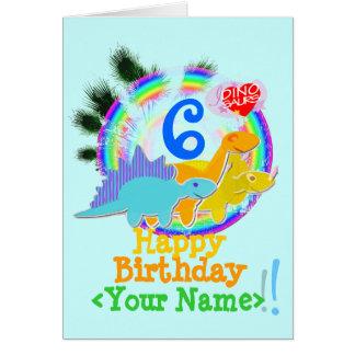 ハッピーバースデー6年、あなたの一流の恐竜カード カード