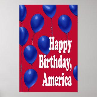 ハッピーバースデー、アメリカのプリント ポスター